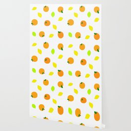 Citrus with Yellow, Orange and Green Oranges, Lemons and Limes Wallpaper