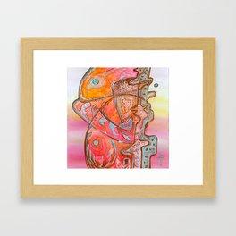 Something Jurassic In Pink Framed Art Print