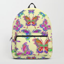 Butterfly Colorful Tattoo Style Pattern Backpack