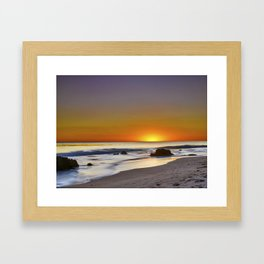 Malibu Sunset Framed Art Print