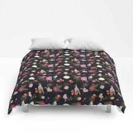 Eastern delight Japanese garden Comforters