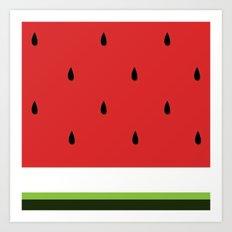 Fresh Water Melon Art Print