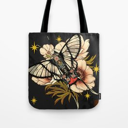 Andean Bee Butterfly Tote Bag