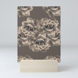 Sepia Peony Flower Bouquet #1 #floral #decor #art #society6 Mini Art Print