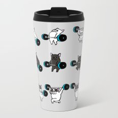 OLYMPIC LIFTING FRENCHIE Metal Travel Mug