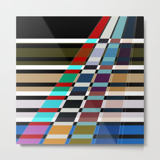 Abstract stripes . Oblique stripes 1 . Metal Print