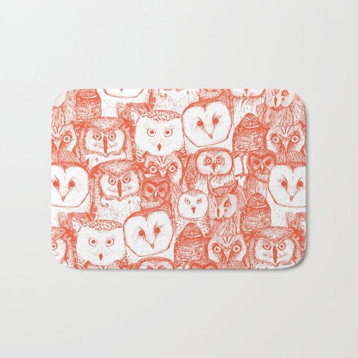 just owls flame orange Bath Mat