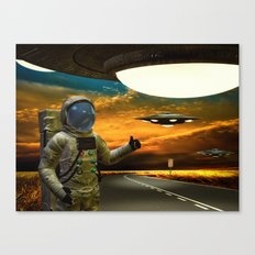 Hitchinghiking Across The Universe Canvas Print
