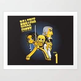 Beatrix Kiddo Vs The De.Vas Art Print