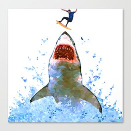 Shark Attack Canvas Print