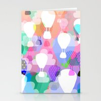 hot air balloons Stationery Cards featuring Hot air balloons by Ingrid Castile
