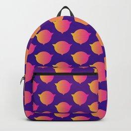 Orange alien heads Backpack