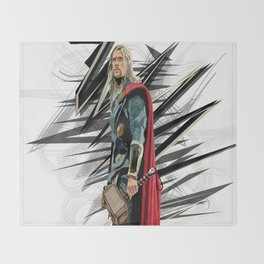 God of Thunder Throw Blanket
