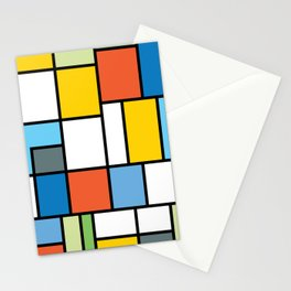 The Colors of / Mondrian Series - Simpsons Stationery Cards