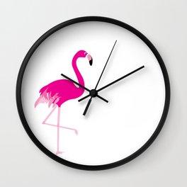 just a flamingo Wall Clock