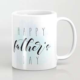 Happy Father's Day - Blue Paint Coffee Mug