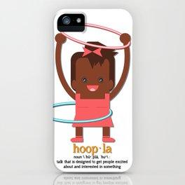 Hoopla Hula Hoop African American Girl iPhone Case
