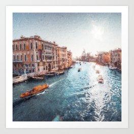 Venice View Painting Art Print