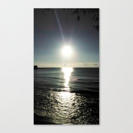 Shortly after sunrise near Nessebar beach, Bulgaria, the Black Sea Canvas Print