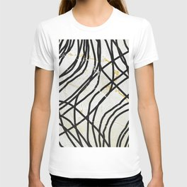 Abstract Mess - minimal, marbled, simple, modern design T-shirt