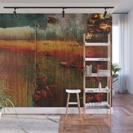 Rust landscape abstract Wall Mural