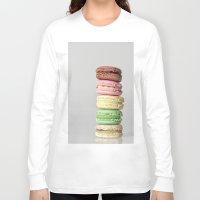 macarons Long Sleeve T-shirts featuring Macarons by Lucía Gámez
