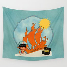 Surfer Sailor Boy Beach Pirate Wall Tapestry