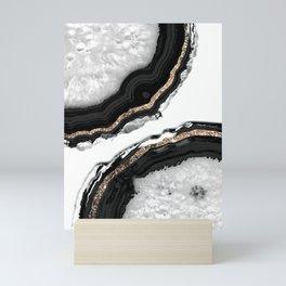 Agate Glitter Glam #2 #gem #decor #art #society6 Mini Art Print