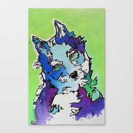 Piper the Husky (Limited Time Offer) Canvas Print