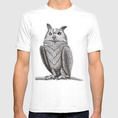 Owl MEDIUM Mens Fitted Tee White