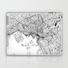 Oslo White Map Laptop & iPad Skin