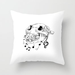 Bearly a Music Box Throw Pillow
