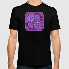 Hydrangea Paisley Abstract Mens Fitted Tee MEDIUM Black