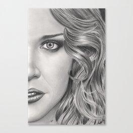 Half Portrait Canvas Print