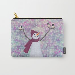 snowman and chickadees Carry-All Pouch