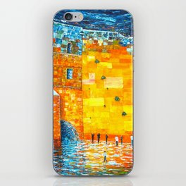 Jerusalem Wailing Wall Original Acrylic Palette Knife Painting iPhone Skin