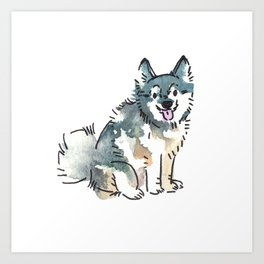Snowflake the Pomski Art Print