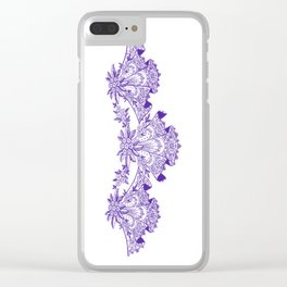 Vintage Lace Purple Hankies Clear iPhone Case