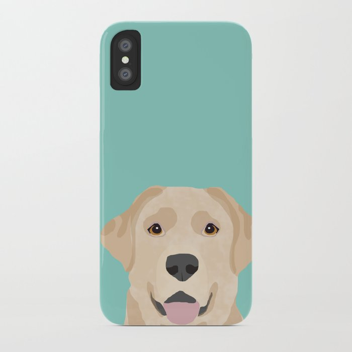 Yellow Lab dog portrait labrador retriever dog art pet friendly iPhone Case