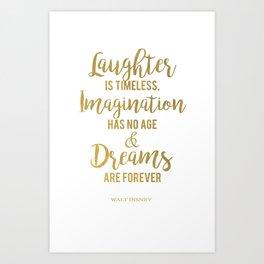 Imagination Has No Age Art Print