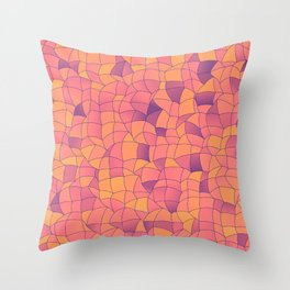 Geometric Shapes Fragments Pattern 2 cr2i Throw Pillow