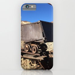 Mining Rail Car at Calico California's Ghost Town iPhone Case