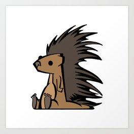 Prickly Porcupine   Animal Series   DopeyArt Art Print