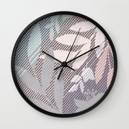 Leaft in Stitches Wall Clock