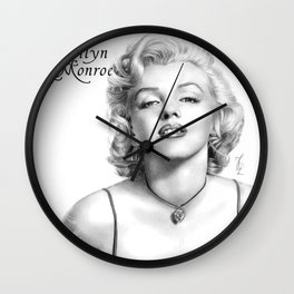 Marilyn Monroe - PENCIL DRAWING Wall Clock