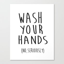 Wash Your Hands Bathroom Print Bathroom Decor Nursery Print Nursery Quote So Fresh And So Clean Canvas Print