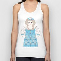 marie antoinette Tank Tops featuring Marie Antoinette by Late Greats by Chen Reichert