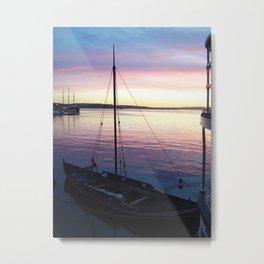 Sunset Oslo Metal Print
