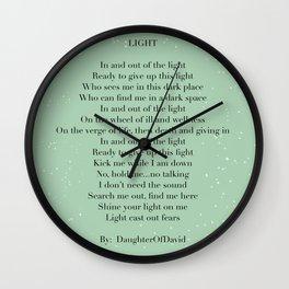 LIGHT (poem) Wall Clock