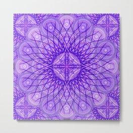 Lavender Star Mandala Metal Print